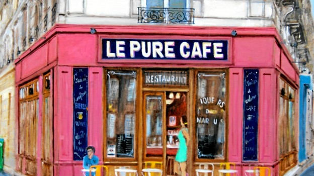 Le Pure Cafe. Location til filmen Befor Sunset. xx